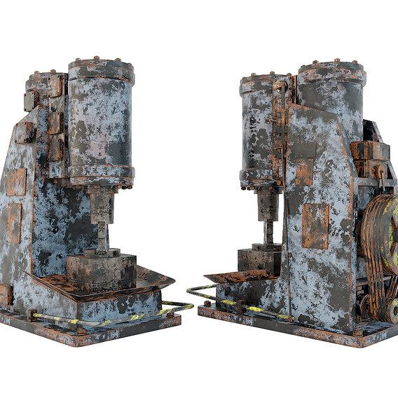 Industrial machine tool - MA4129 Rusty forging hammer