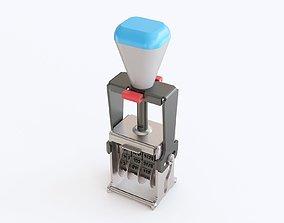 Date stamp 3D model