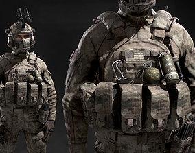 3D asset US SOF Soldier