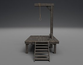 3D model Small gallows PBR