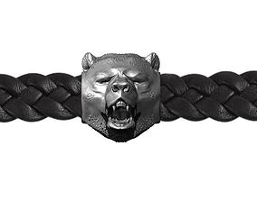3D print model Bracelet Animal roar Bear head Highpoly