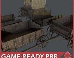 3D asset Western - Wooden Wagons