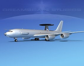 Boeing E-3C AEW Bare Metal 3D model