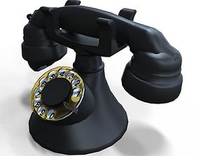 3D asset old rotary phone