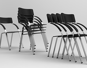 Stack of Chairs 3D