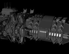 3D model The spaceship Dreadnought MK2