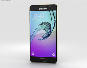 sim 3D model Samsung Galaxy A3 2016 Gold