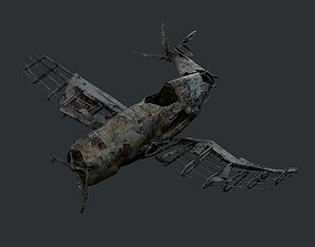 Plane Wreck Damaged Apocalyptic Game Ready 03 3D model
