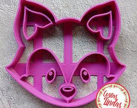 Fox cookie cutter 3D print model