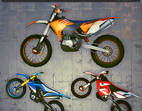 Bikes 2019 3D model game-ready