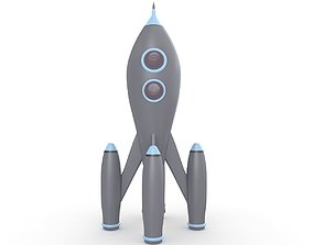 3D Retro Rocket toys