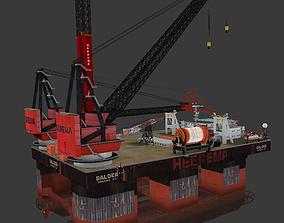 3D model Heerema Balder Semi Submersible Crane Offshore