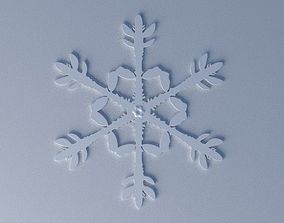 snowflake Christmas-tree ornament 3D print model
