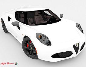 sport 3D model Alfa Romeo 4C 2014