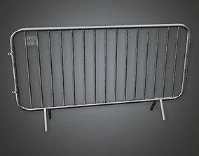 HLW - Concert Crowd Barrier 01 - PBR Game Ready 3D model
