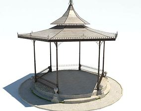 Classic Gazebo With Pointed Roof 3D model