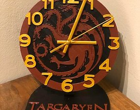 3D printable model House Targaryen office Clock
