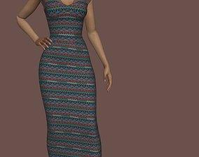 vestido elegante 3D model