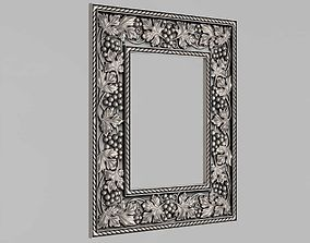 Frame mirror with grape vine 3D print model