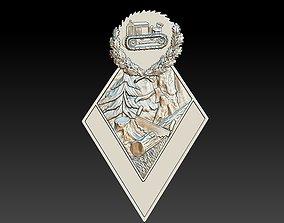 Badge Nature Forest 3D printable model