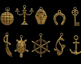 3D asset Pendant Jewelry collection