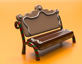 Gingerbread bench inspired by Gingerbread house 3D model
