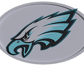 Philadelphia Eagles logo oval 3D model