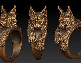 Bobcat ring 3D printable model