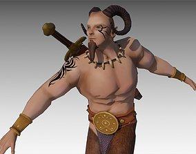 Faun Warrior 3D model