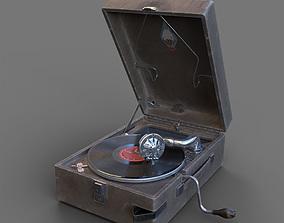 PT3 portable gramophone 3D model