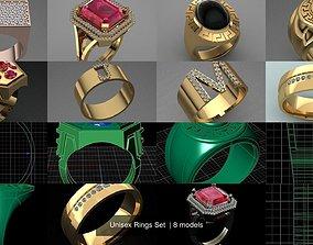 3D model Unisex Rings Set