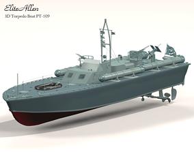 VR / AR ready Torpedo Boat PT-109 3D Model