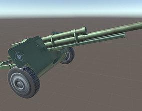 Anti Tank Cannon 3D asset