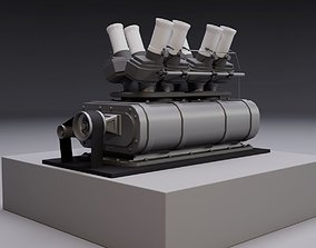 Supercharger type A 3D model