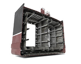 Tanker ship section 3D asset