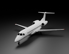 Embraer E135 E145 Family 3D model