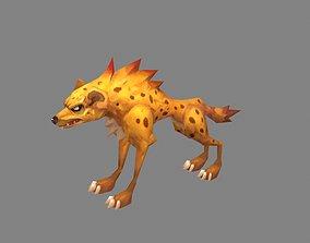 3D model Cartoon hyena - jackal