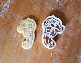 3D print model Seahorse cookie cutter