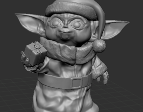 3D printable model Baby Yoda X-mas