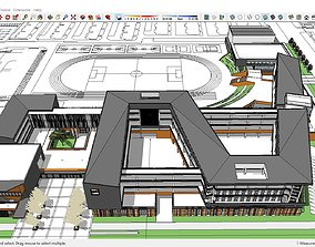 3D model Sketchup school L1