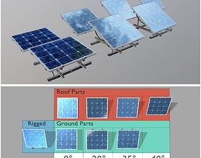 Solar Panel 4x4 Rigged and Animated 3D model