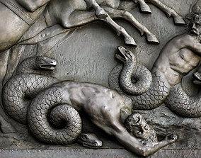 Zeus battle against creatures at 3D printable model 3