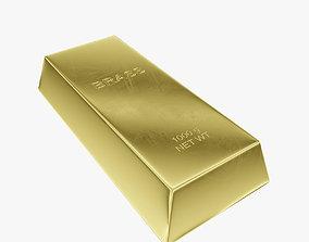 3D asset Ingot brass