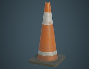 Traffic Cone 6B 3D model