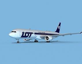 Boeing 767-400 LOT Polish 3D model