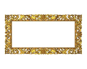 carved frame wall-mirror 3D