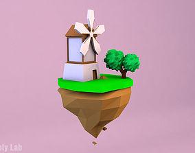 Cartoon Mill 3D asset