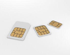 Sim Cards Set 3D