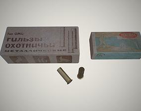 Hunting cartridges 3D model