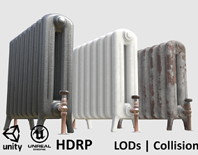 Game-ready radiator- 3 different materials 3D model